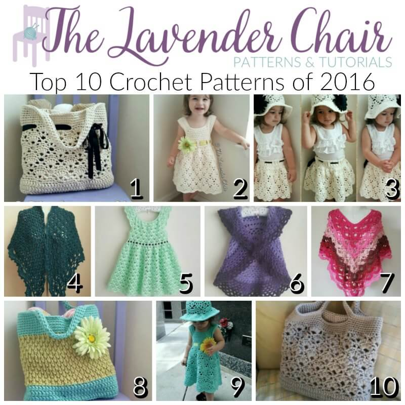 The Lavender Chair Top 10 Crochet Patterns 2016