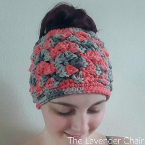 Shelby's Messy Bun Beanie Crochet Pattern