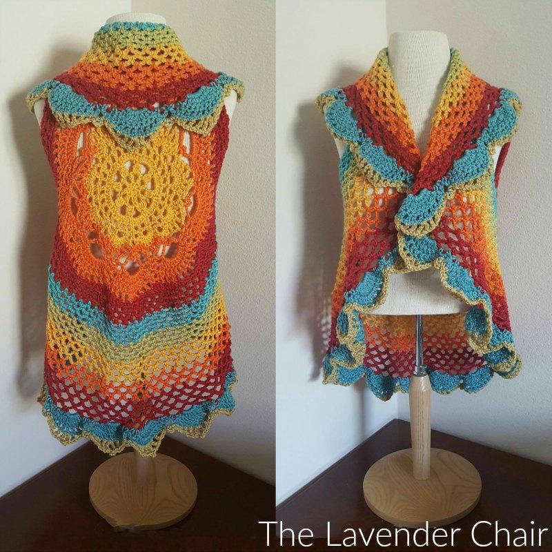 starburst mandala circular vest cal - the lavender chair