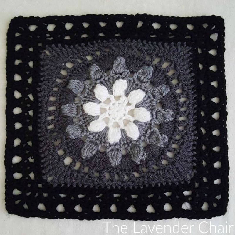 Ombre Flower Garden Square Crochet Pattern