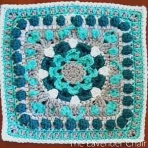 Compass Mum Mandala Square Crochet Pattern