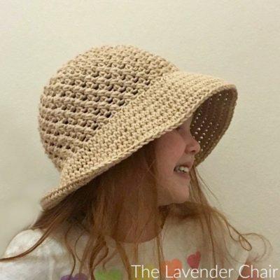 Crossed Double Sun Hat (Infant – Child) Crochet Pattern