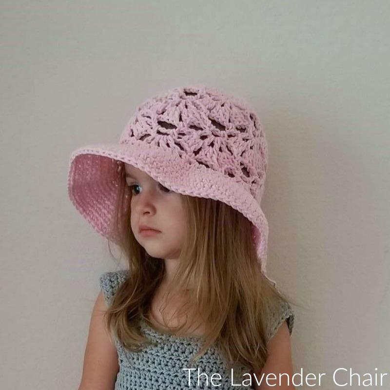 Falling Fans Sun Hat (Infant – Child) Crochet Pattern