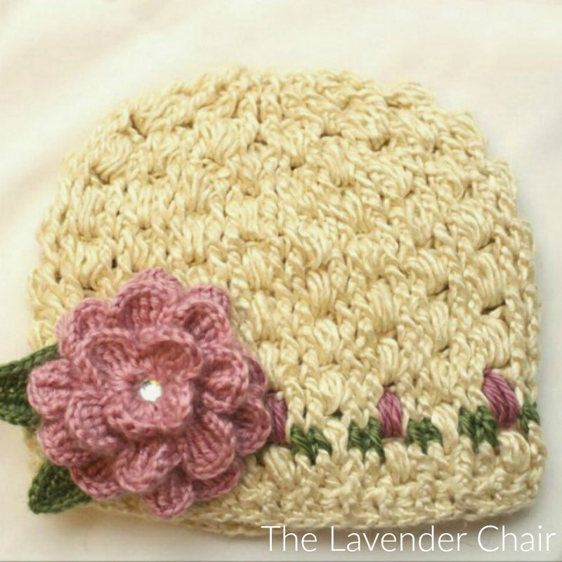 Rose Garden Beanie Crochet Pattern