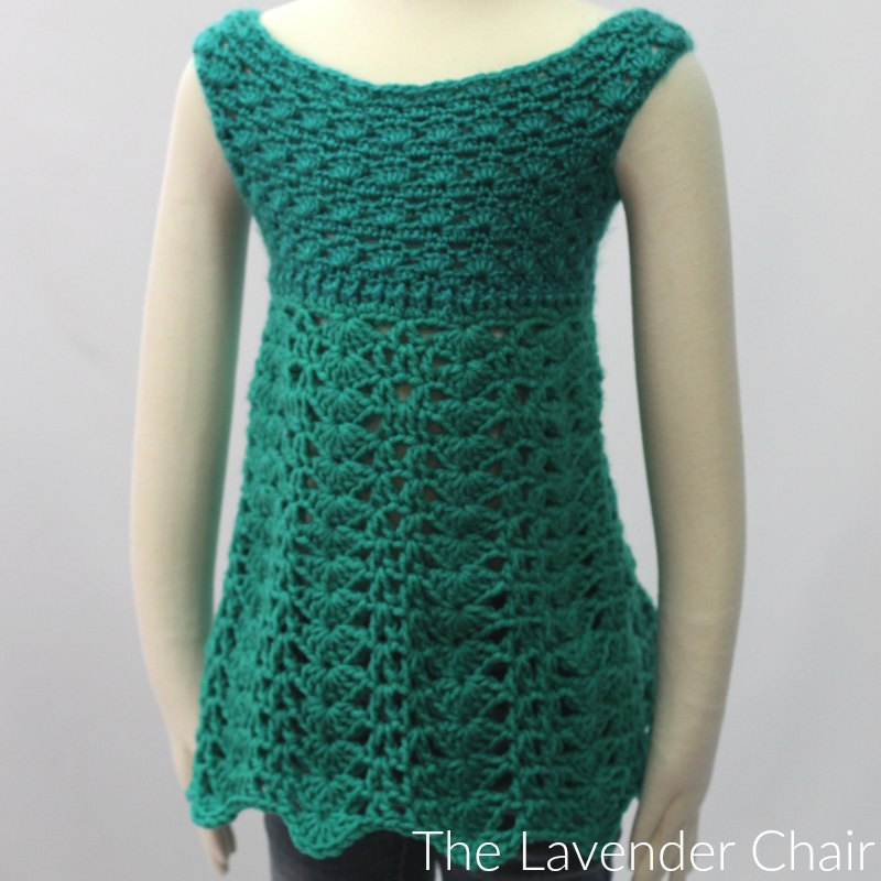 Teal Garden Dress Crochet Pattern
