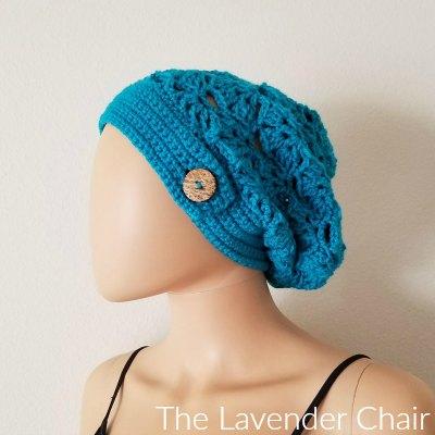 Falling Fans Slouchy Beanie Crochet Pattern