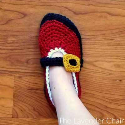 Mrs. Claus' Ballet Slipper Crochet Pattern