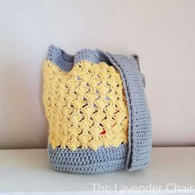 Round Bottom Textured Fan Tote Crochet Pattern