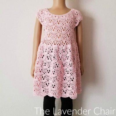 Rounded Yoke Lacy Shells Dress Crochet Pattern