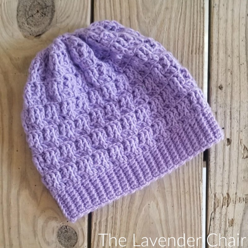 Textured Spike Stitch Beanie Crochet Pattern