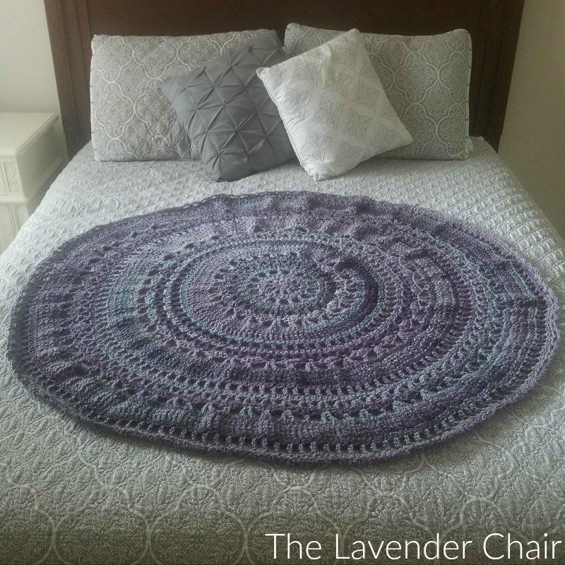 Wagon Wheel Circular Blanket Crochet Pattern