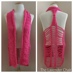 Cabled Vest Crochet Pattern