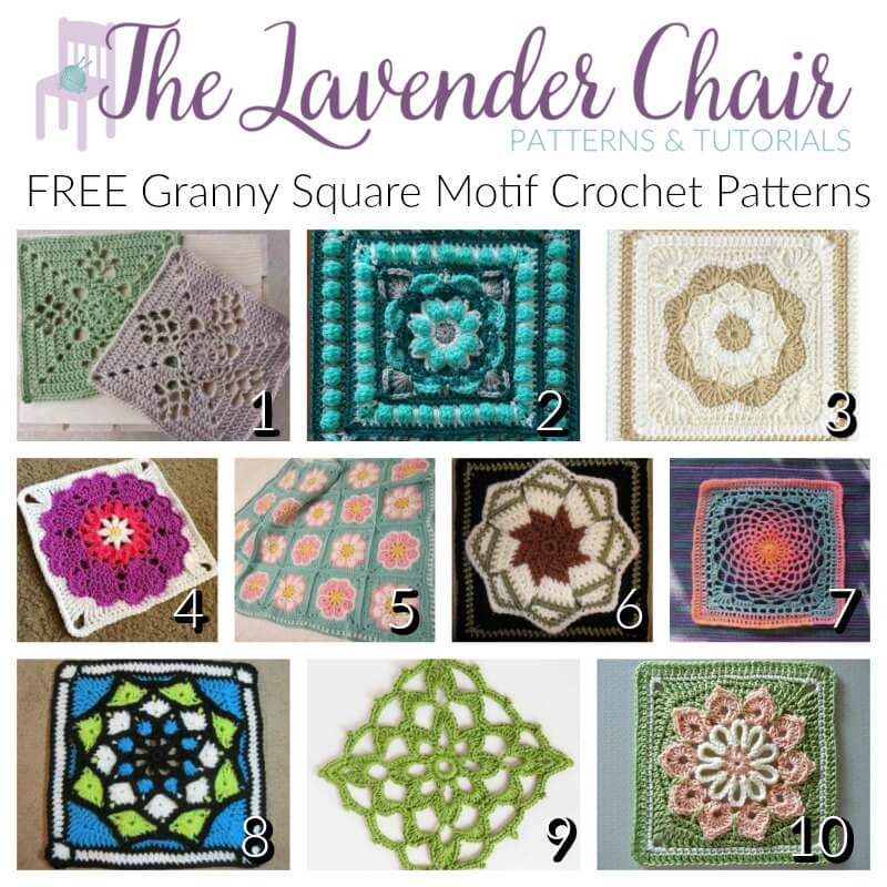 Free Granny Square Motif Crochet Patterns The Lavender Chair