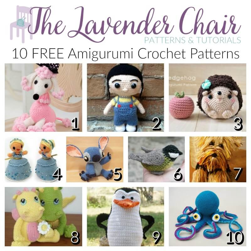 10 Free Amigurumi Crochet Patterns The Lavender Chair