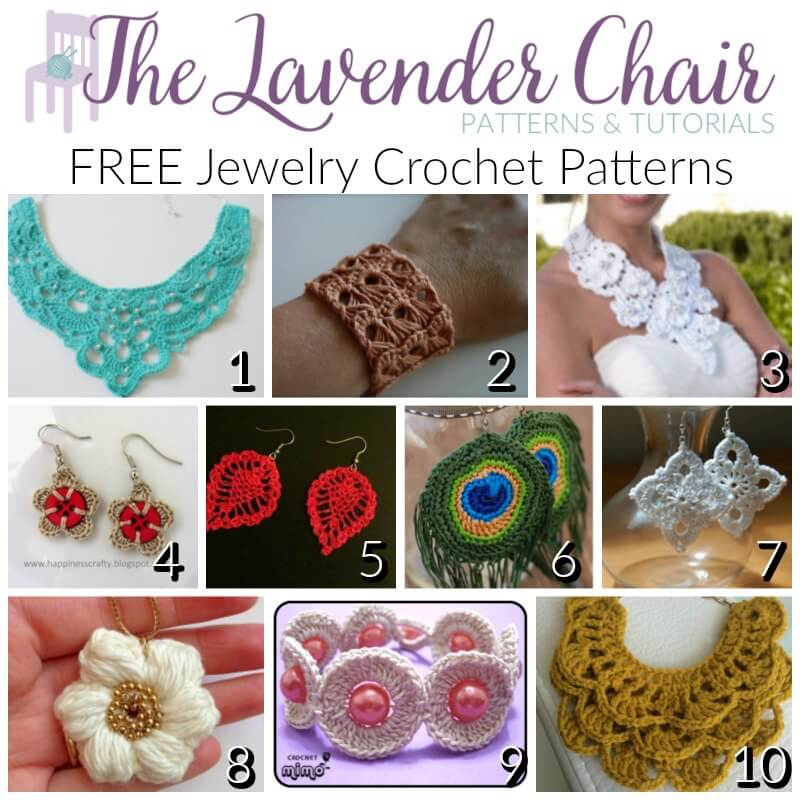Free Crochet Jewelry Patterns Archives The Lavender Chair