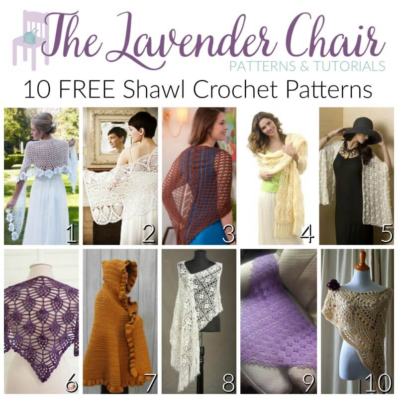 Free Crochet Shawl Pattern Archives The Lavender Chair