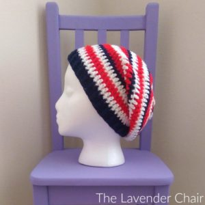Stars and Stripes Slouchy Beanie Crochet Pattern