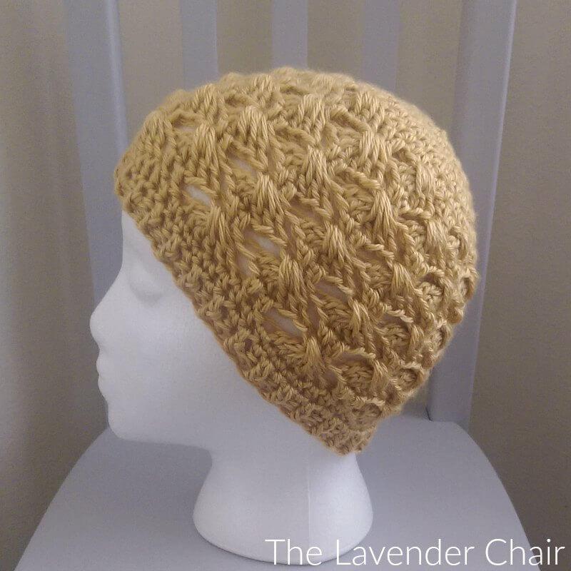 Textured Fan Beanie Crochet Pattern