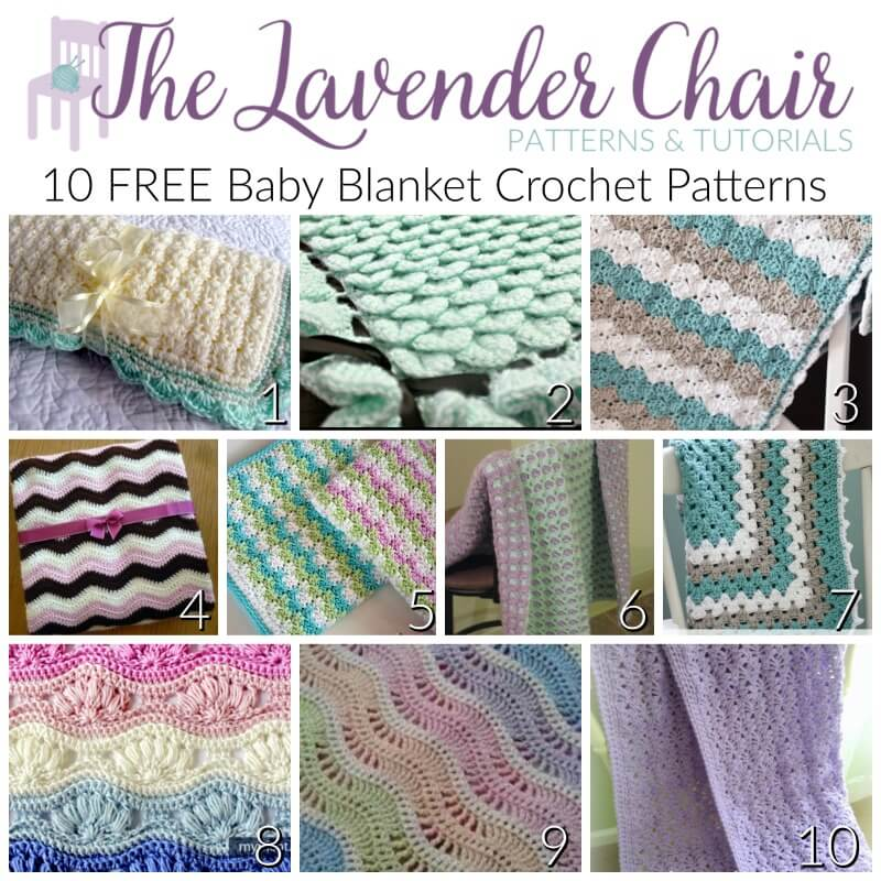 FREE Baby Blanket Crochet Patterns - The Lavender Chair