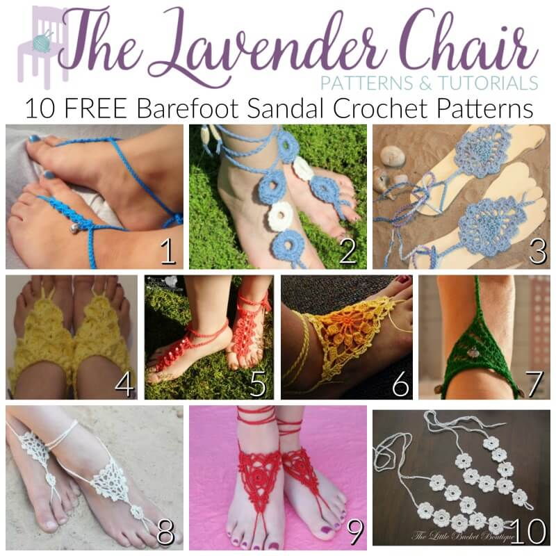 Free Barefoot Sandal Crochet Patterns The Lavender Chair