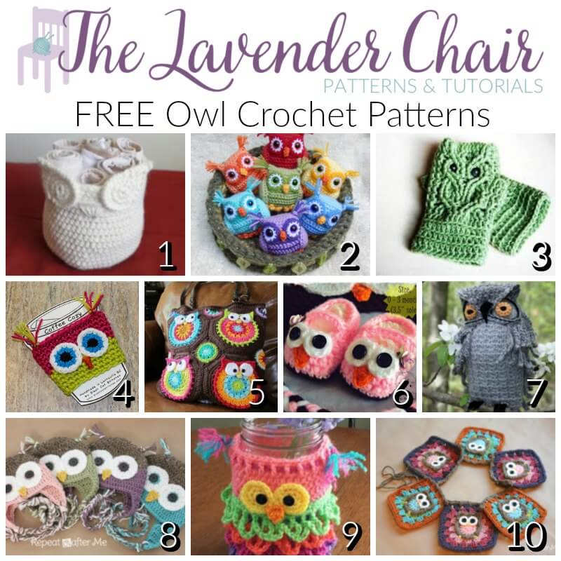 Free Owl Crochet Patterns The Lavender Chair