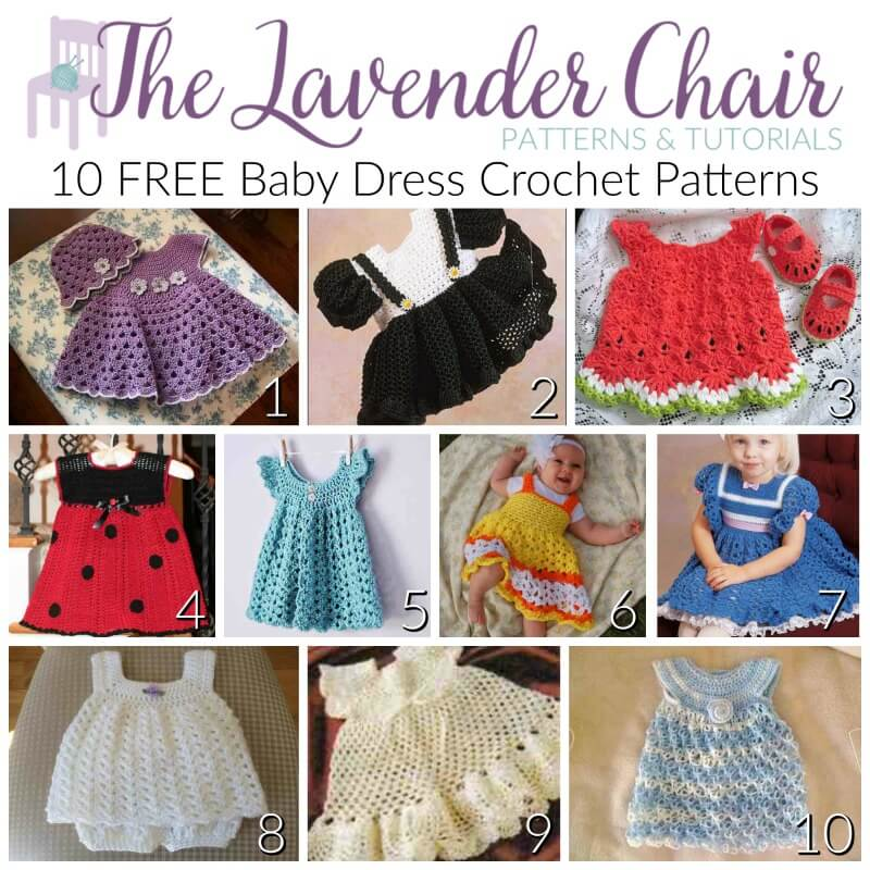 0172098dc FREE Baby Dress Crochet Patterns - The Lavender Chair