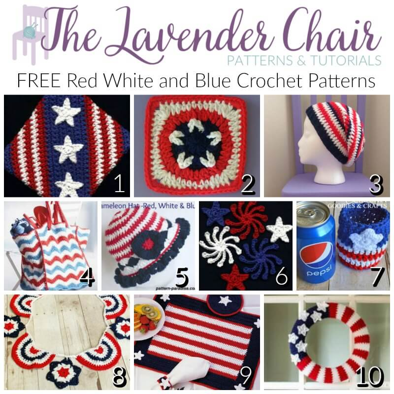 Free Red White And Blue Crochet Patterns The Lavender Chair