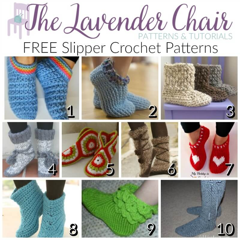 Free Slipper Crochet Patterns The Lavender Chair