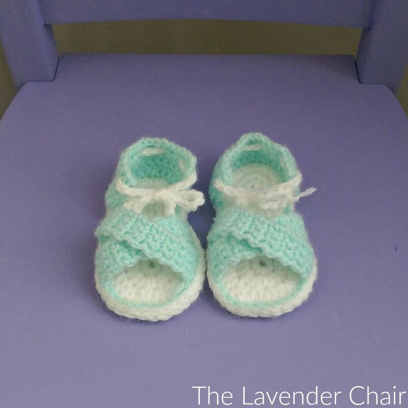Crisscross Baby Sandals Crochet Pattern The Lavender Chair