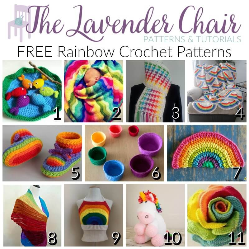 Free Rainbow Crochet Patterns The Lavender Chair