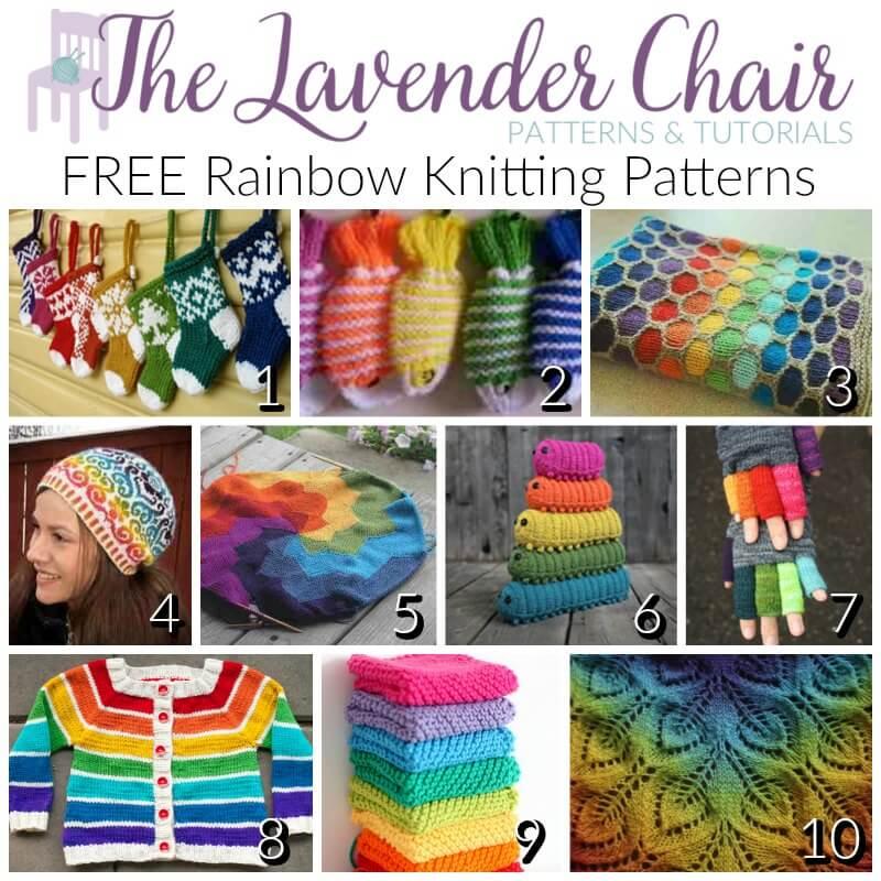 FREE Rainbow Knitting Patterns