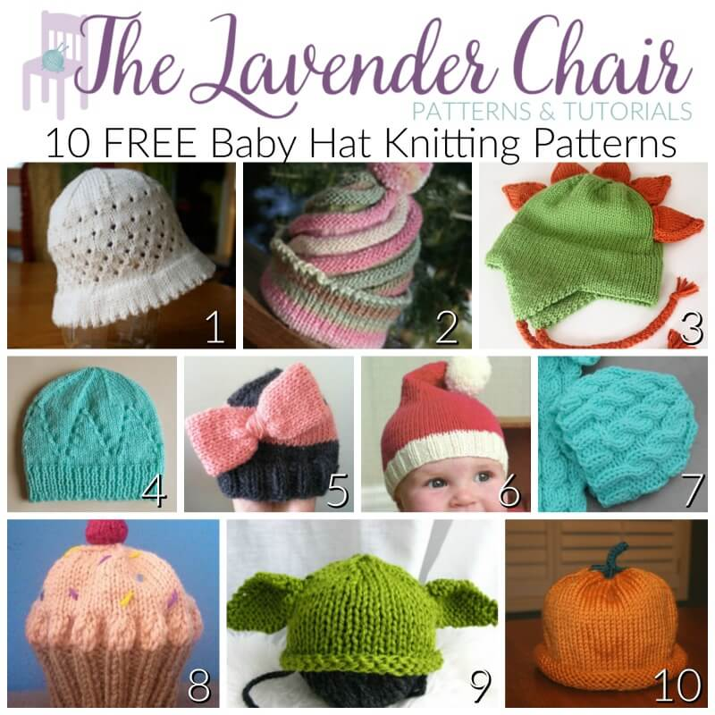 FREE Baby Hat Knitting Patterns - The Lavender Chair ed83e04c2dc8