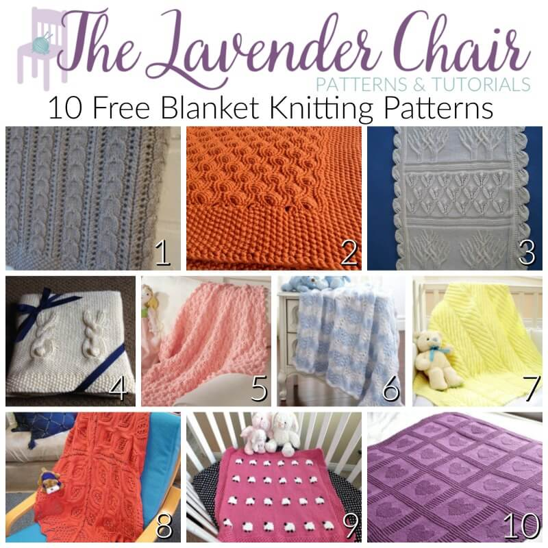 10 FREE Blanket Knitting Patterns - The Lavender Chair