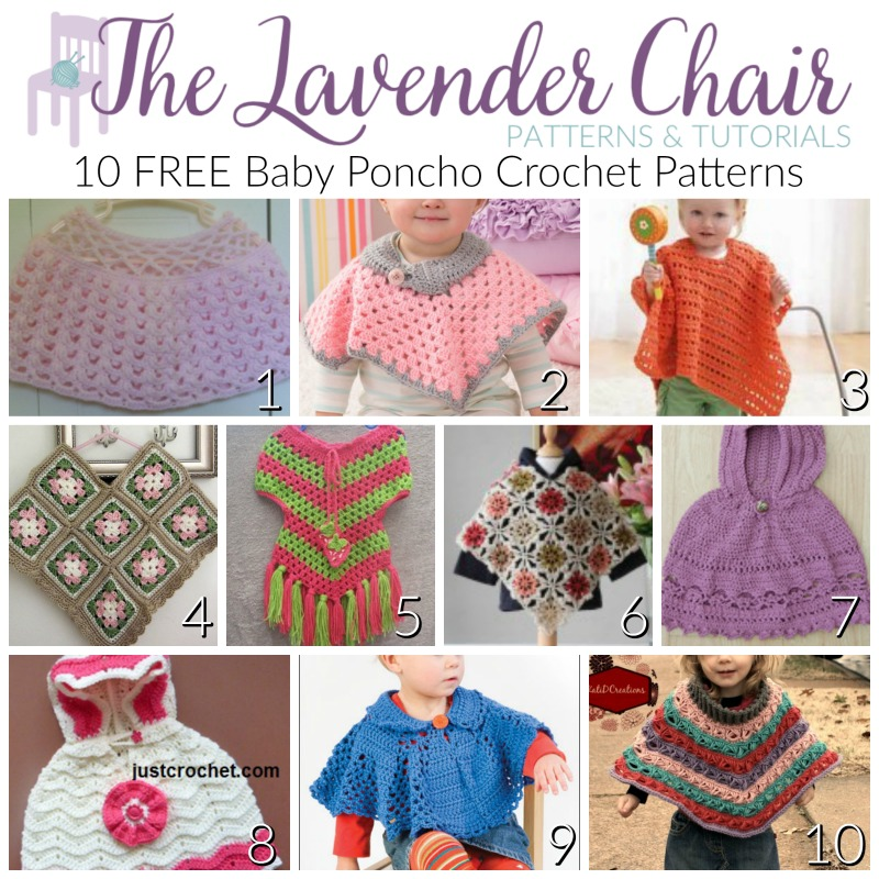 10 Free Baby Poncho Crochet Patterns The Lavender Chair