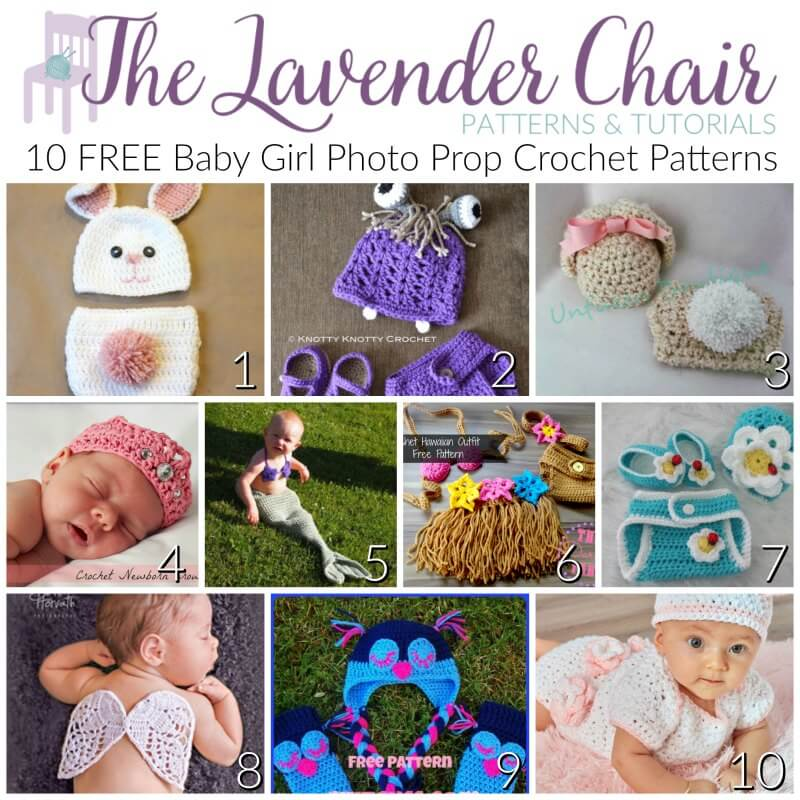 Free Baby Girl Photo Prop Crochet Patterns The Lavender Chair