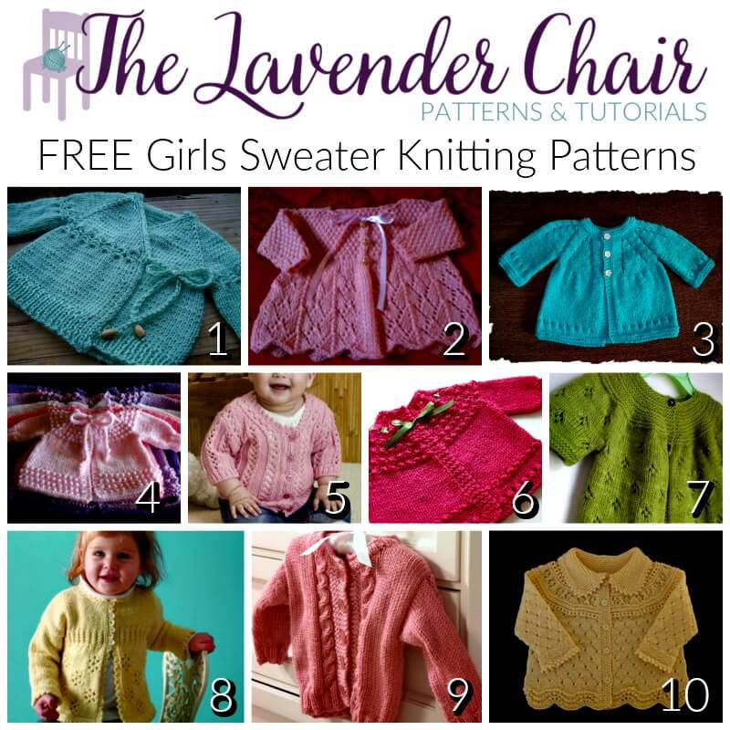 Free Girls Sweater Knitting Patterns The Lavender Chair