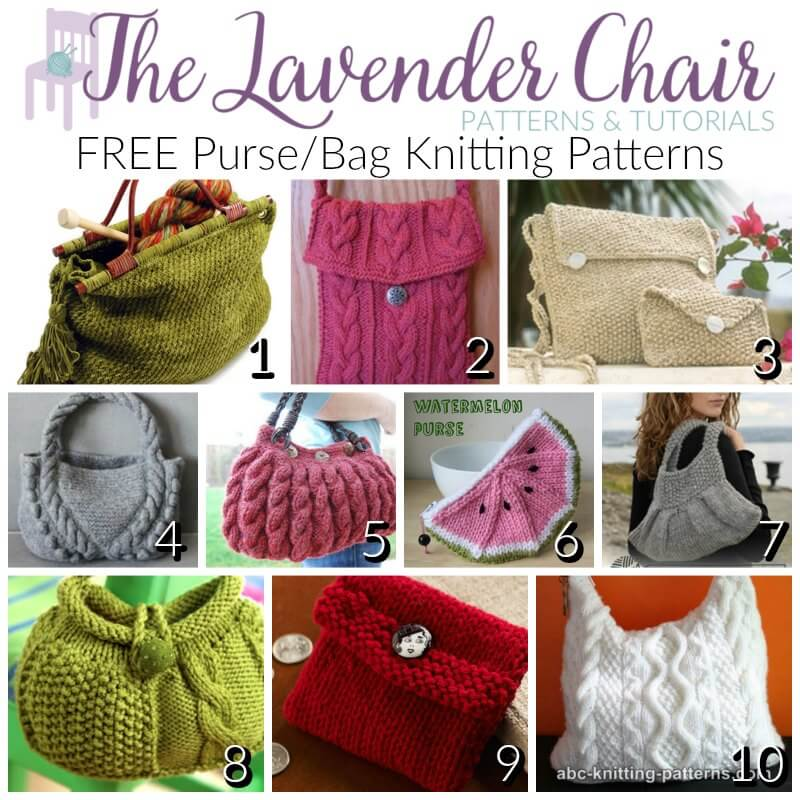 Free Pursebag Knitting Patterns The Lavender Chair