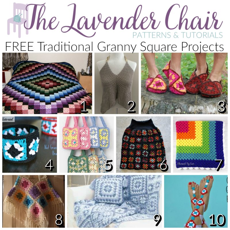 Free Traditional Granny Square Project Crochet Patterns The
