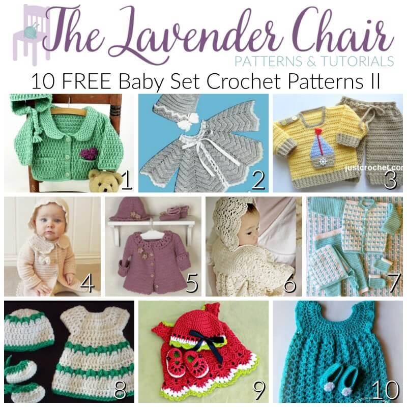 19bf6b624d98b2 FREE Baby Set Crochet Patterns II - The Lavender Chair