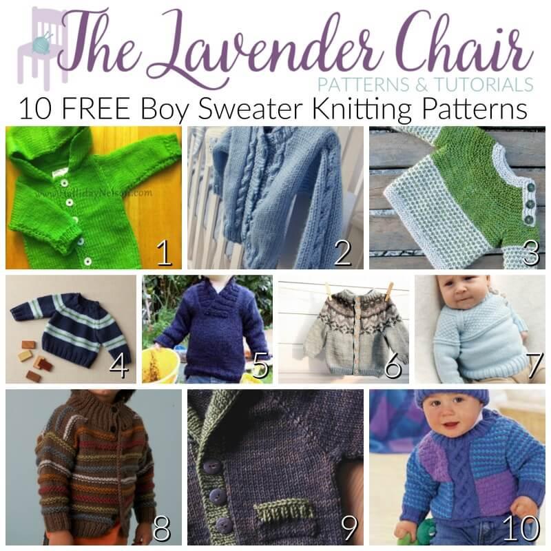 10 FREE Boy Sweater Knitting Patterns