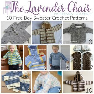 70ca3747e I adore every singe one of these boy sweater crochet patterns! Looking for girls  sweaters  Check out my 10 Free Crochet Sweater Patterns For Girls post!