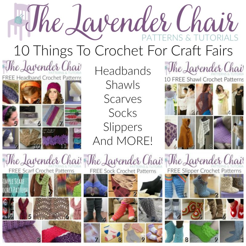 10 Things To Crochet For Craft Fairs - The Lavender Chair