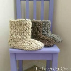 Brickwork Slipper Boots Crochet Pattern
