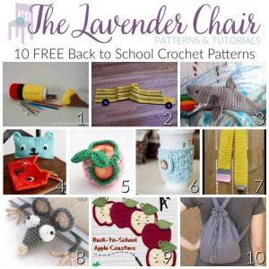 FREE Back To School Crochet Patterns