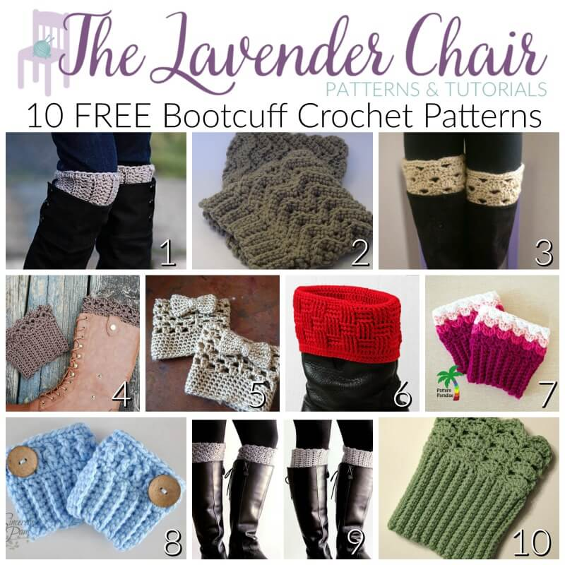 40 FREE Bootcuff Crochet Patterns The Lavender Chair Mesmerizing Boot Cuff Crochet Pattern