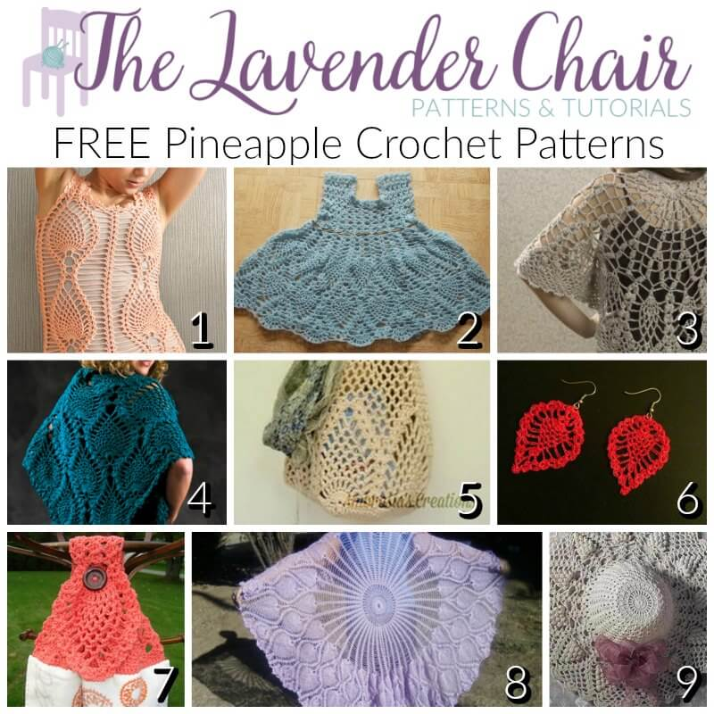 Free Pineapple Crochet Patterns The Lavender Chair