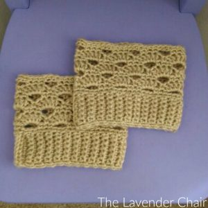 Stacked Shells Boot Cuffs Crochet Pattern