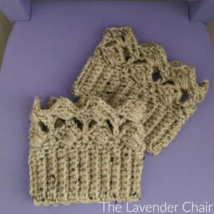 Textured Fan Boot Cuffs Crochet Pattern