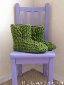 Chunky Cabled Slipper Boots Crochet Pattern The Lavender Chair