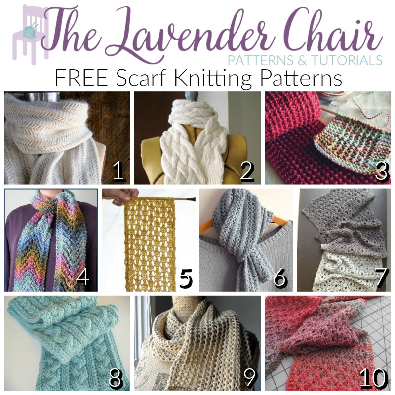 Elegant And Free Scarf Knitting Patterns The Lavender Chair